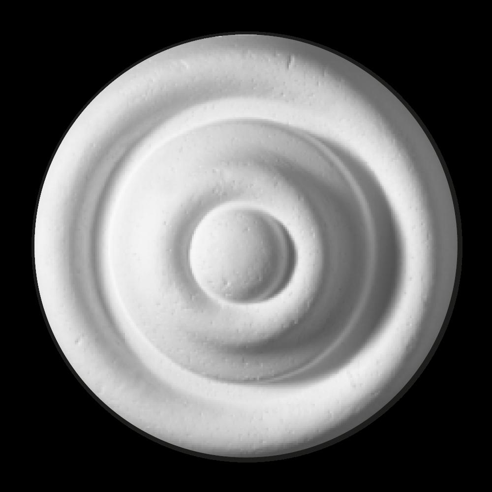 roseta decoração poliestireno clara